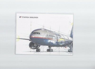 """United Airlines issued boeing 777 intro  5"""" x 7""""  postcard"""