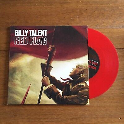 "Billy Talent - Red Flag 7"" Red Vinyl"