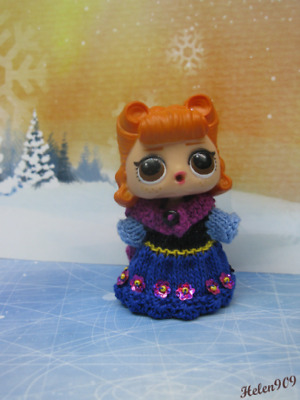 "Anna from the cartoon ""Frozen"". Outfit for Lol Surprise doll. Сlothes for LOL"