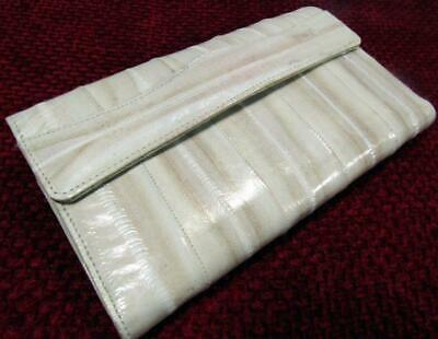 "Trifold Ladies Wallet Purse Eel Skin Made Korea 18 cm / 7"" x 10 cm / 4"""