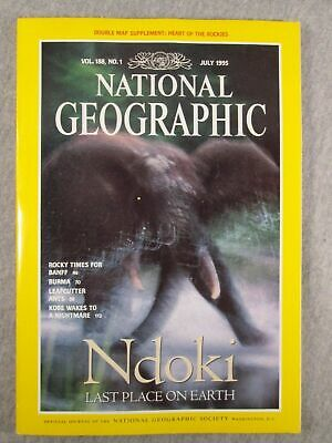 National Geographic Magazine Ndoki Last Place On Earth Vol 188 NO. 1 July 1995