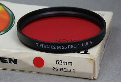 62mm Screw-In Filter TIFFEN WRATTEN 25 RED 1 B&W Contrast New Old Stock USA