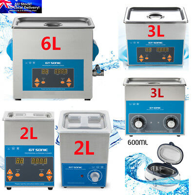 Digital Ultrasonic Cleaners Ultra Sonic Timer Bath Cleaning Tank Stainless Steel