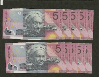2001 Five Dollar X 10 - *federation* - Uncirculated Condition