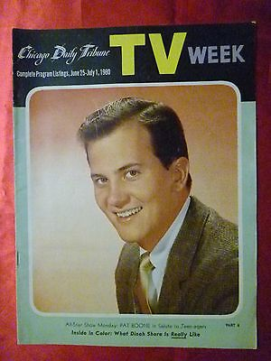 June 25-July 1 TV WEEK guide 1960 CHICAGO TRIBUNE Pat Boone DINAH SHORE Annette
