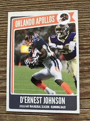 ACEO AAF D/'ERNEST JOHNSON ORLANDO APOLLOS HAND MADE ART CARD