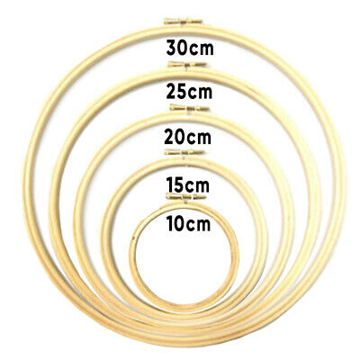 Wooden Cross Stitch Machine Embroidery Hoops Ring Bamboo Sewing Tools 10-30CM D2
