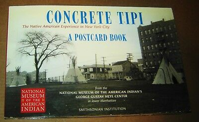 Concrete Tipi Native American New York City Yankees 20 Indian Postcards Book