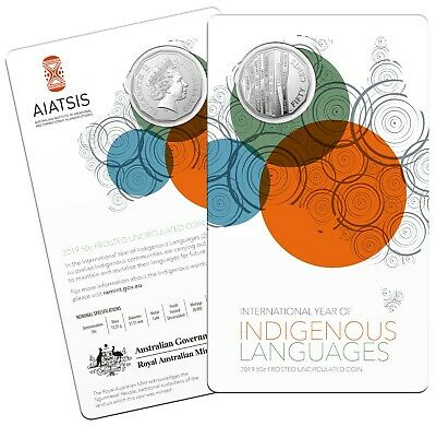 2019 Australia 50c Carded UNC Coin - International Year of Indigenous Languages