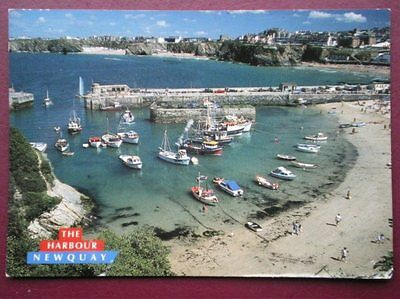 Postcard Cornwall Newquay - The Harbour