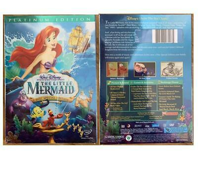 The Little Mermaid (DVD 2006, 2-Disc Set, Platinum Edition) Slipcover Included!