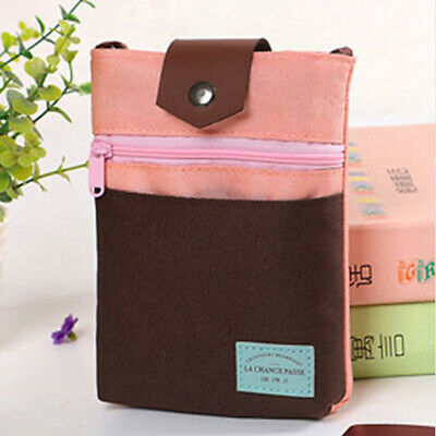 Outdoor Secure Passport Neck Pouch Money Cord Oxford Cloth Wallet Holder Bag BS