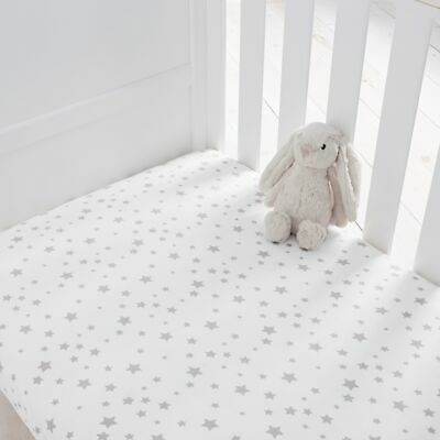 Silentnight Safe Nights 100% Jersey Cot Bed Fitted Sheets, Pack of 2
