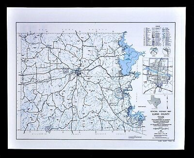 Texas Map - Llano County - Lake Buchanan - Enchanted Rock State Park - Kingsland