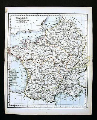 1857 Findlay Map - Gallia Ancient Gaule Lutecia Paris Aquitania - France Belgium
