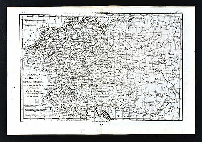 1779 Bonne Map C. Europe - Germany Prussia Poland Holland Austria Hungary Berlin