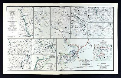 Civil War Map 20th Corp March Savannah to Goldsboro North Carolina Bentonville