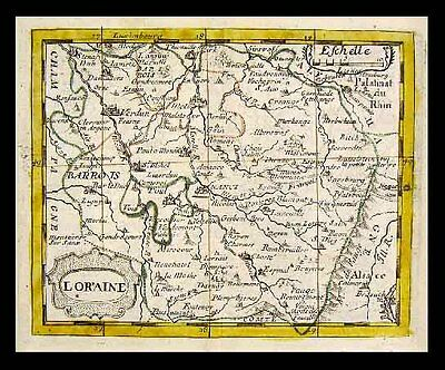 1682 Du Val Map - Loraine - Lorraine France Nancy Metz