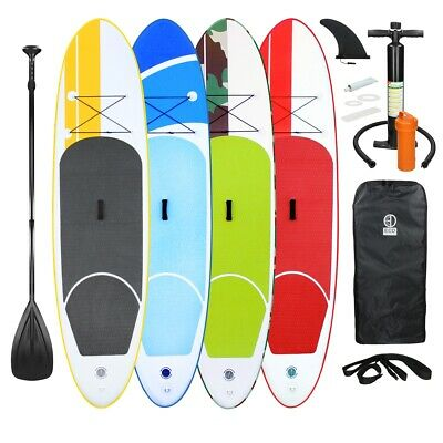 Sup board stand up paddle surf-board gonfiabile set completo pagaia varie colori