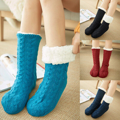 1/3 Pairs Women Thick Fluffy Non-slip Winter Warm Fur Fluffy Bed Socks Slippers