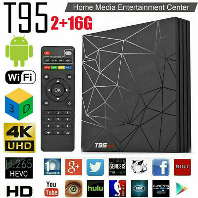 Newest T95 Max 4GB+ 32GB Android 9.0 Quad Core TV Box HD 6K Media Player WIFI AU