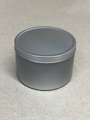 4 x Empty Large Slip Lid Round Seamless Candle Tins 95mm x 62mm (approx) 250ml
