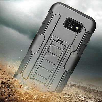 Hybrid Armor Case Heavy Duty Cover Kickstand Rubber For Samsung Galaxy A5 2017