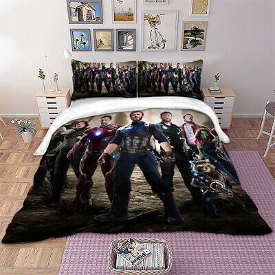 Avengers Quilt/Doona/Duvet Covers Set Single Queen King All Size Bed Pillowcases
