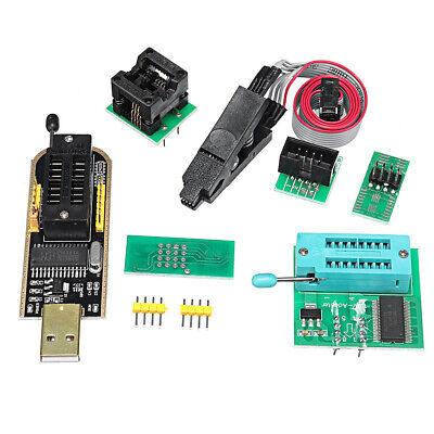 USB Programmer CH341A + SOIC8 Clip + 1.8V Adapter + SOIC8 Adapter Kit For EEPROM