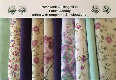 LAURA ASHLEY FABRIC 'LILAC' PATCHWORK QUILTING KIT +INSTRUCTIONS -CHOICE of SIZE
