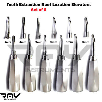 Dental Root Elevators Luxation Tooth Loosening Extracting Oral Surgery Kit Tools