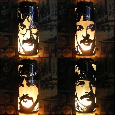 The Beatles 'Sgt Pepper's' Beer Can Lanterns! Pop Art Candle Lamps - Unique Gift