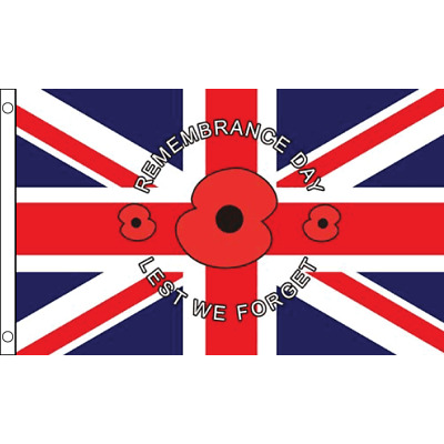 10m with 28 Flags Remembrance Day Poppy Polyester Flag Bunting
