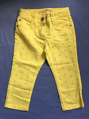 NEW Mini Boden Ankle Skimmers Trousers - Age 4 - Yellow Star