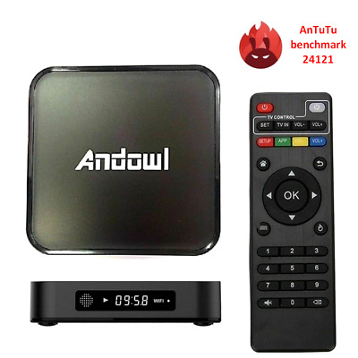 SMART TV BOX ANDOWL Q3 ANDROID 4K 3GB RAM 32GB ROM GPU WIFI H.265 OTG iptv