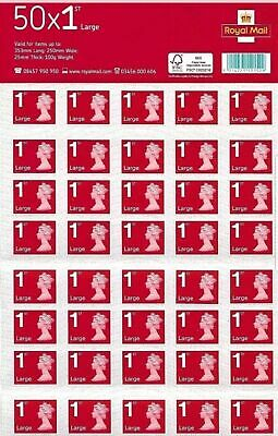 👑 4 x 50 x 1st class Royal mail large letter stamps