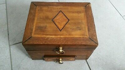 Stunning Victorian Antique Inlaid Sewing Wooden Box 23 x 19 x15 cms