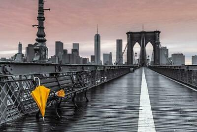 Frank Assaf : Brooklyn Bridge Umbrella - Maxi Poster 91.5cm x 61m new and sealed