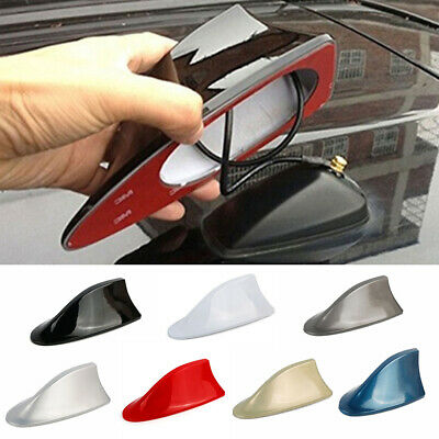 Car Exterior Roof Shark Fin Adhesive Sticker Antenna FM/AM Signal Radio USA