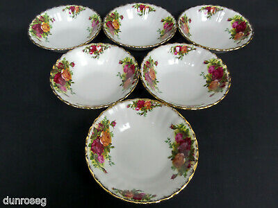 6 Old Country Roses Fruit /dessert Bowls, 1962-73, Made In England, Royal Albert
