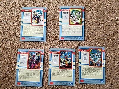 Spiderman Impel 1992 Gold Hologram Cards Complete Set XH-1 XH-2 XH-3 XH-4 XH-5