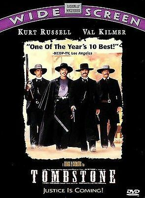 Tombstone DVD, Kurt Russell, Val Kilmer, Sam Elliott, Bill Paxton, Powers Boothe