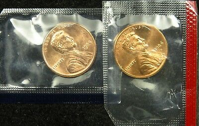 1984 P & D Uncirculated Lincoln Memorial Cent Penny Mint Cello (B03)