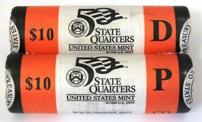 Two $10 Coin Rolls - 2006 Colorado State Quarter P & D - US Mint Genuine AR953