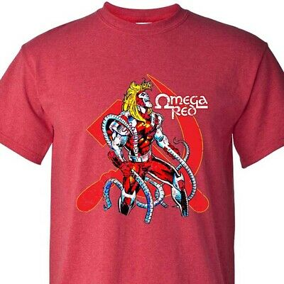 Omega Red T-shirt marvel comics villain Weapon X graphic tee cotton Bronze Age