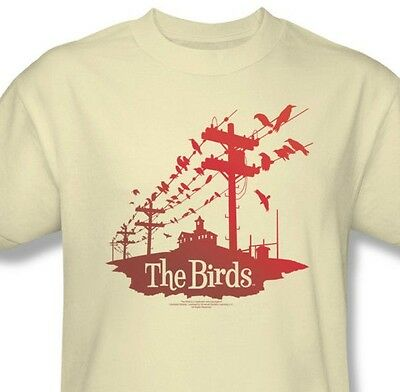 The Birds T-shirt Hitchcock classic horror movie retro 100% cotton tee UNI281