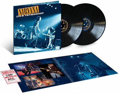 NIRVANA - LIVE AT THE PARAMOUNT  vinyl LP  x 2 Deluxe set with poster + download