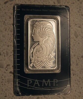 Pamp Suisse 1 oz FORTUNA Silver Bar in Assay Card. SN #150045