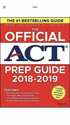 The Official Act Prep Guide by Act Staff (2018-2019) PDF (Same day delivery)