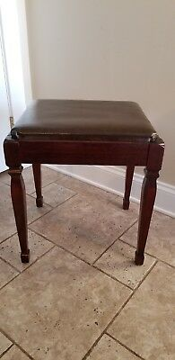Vintage Singer Sewing Machine Cabinet Bench Chair Stool Storage Piano Bench